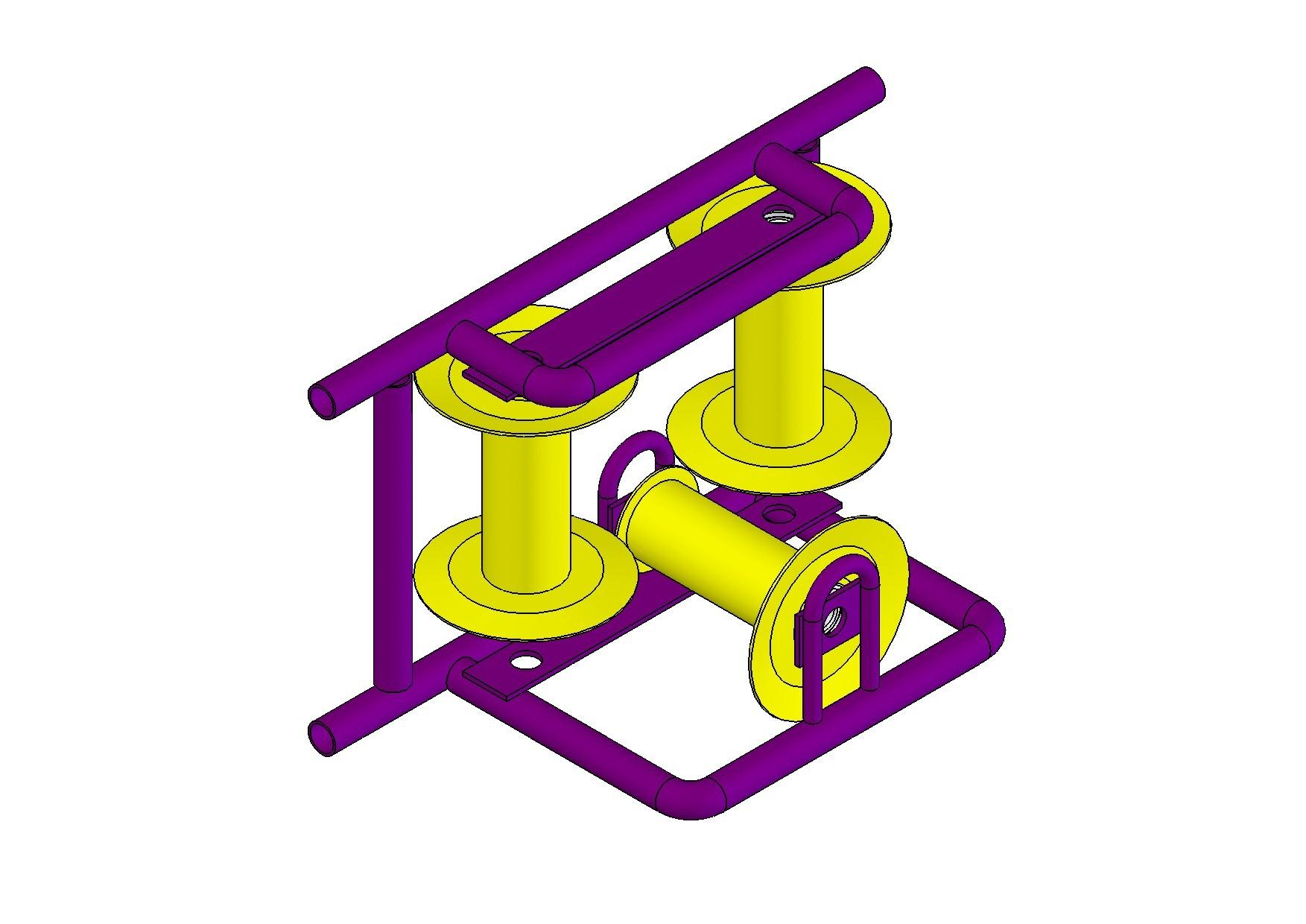 Ролик угловой модульный для прокладки кабеля