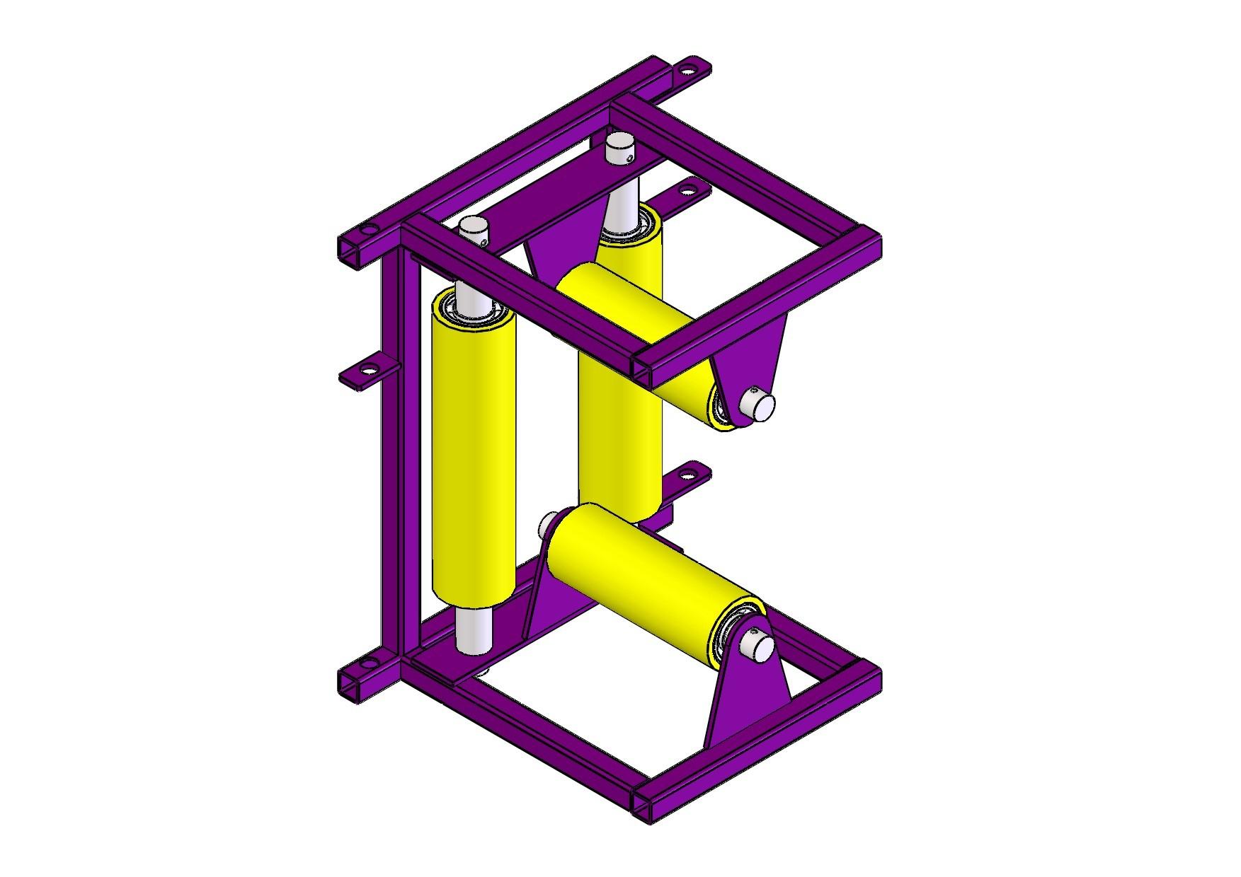 Ролик модульный угловой для прокладки кабеля РПК 4УМ