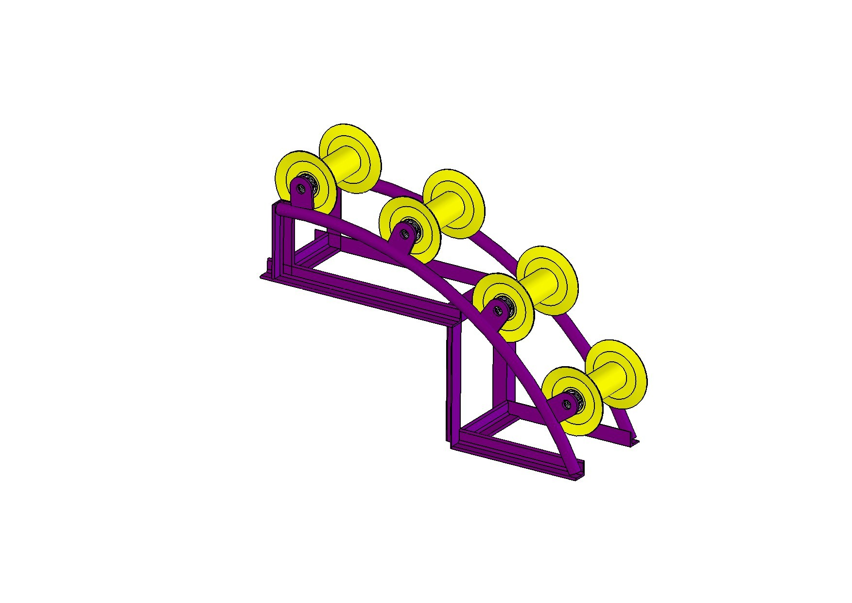 Ролик угловой модульный для прокладки кабеля (4 ролика, тип В)
