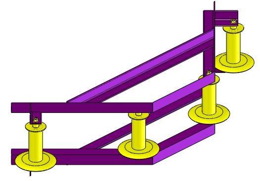 Ролик угловой для прокладки кабеля РПК 4-150УГ