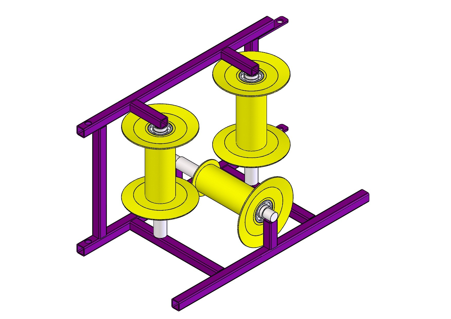 Характеристики ролика углового модульного для прокладки кабеля различных типоразмеров представлены в таблице ниже: