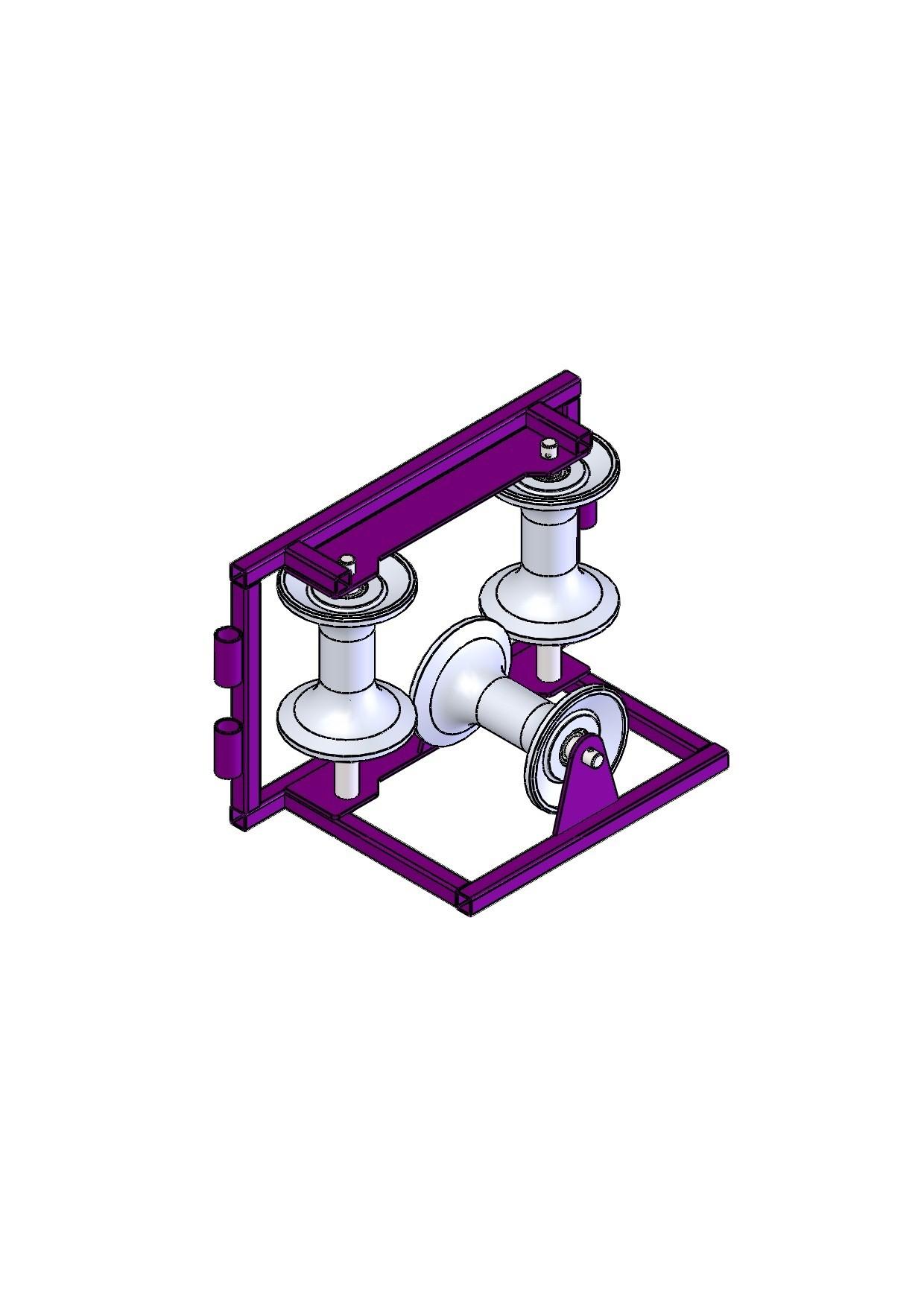 Ролик для прокладки кабеля алюминиевый РПК 3УМАл