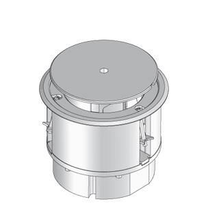 Напольный лючок BODO для помещений с сухой уборкой, с предустановленными модулями, круглый.