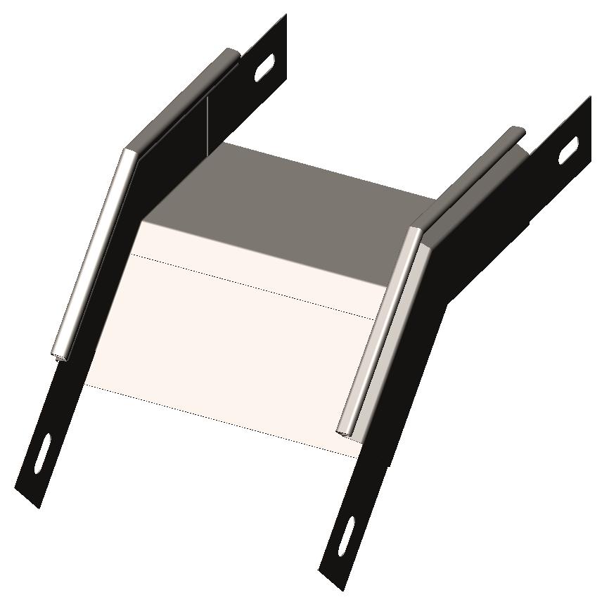Полуспуск угловой 45° без крышки OLSERO Larga