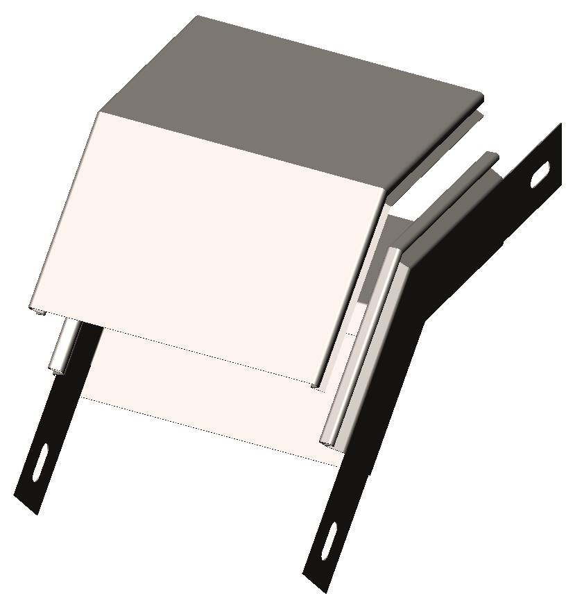 Полуспуск угловой 45° с крышкой DLST OLSERO LSR/LSRP
