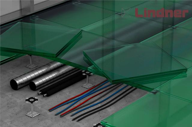 Фальшпол серия Lumen - стеклянная плита
