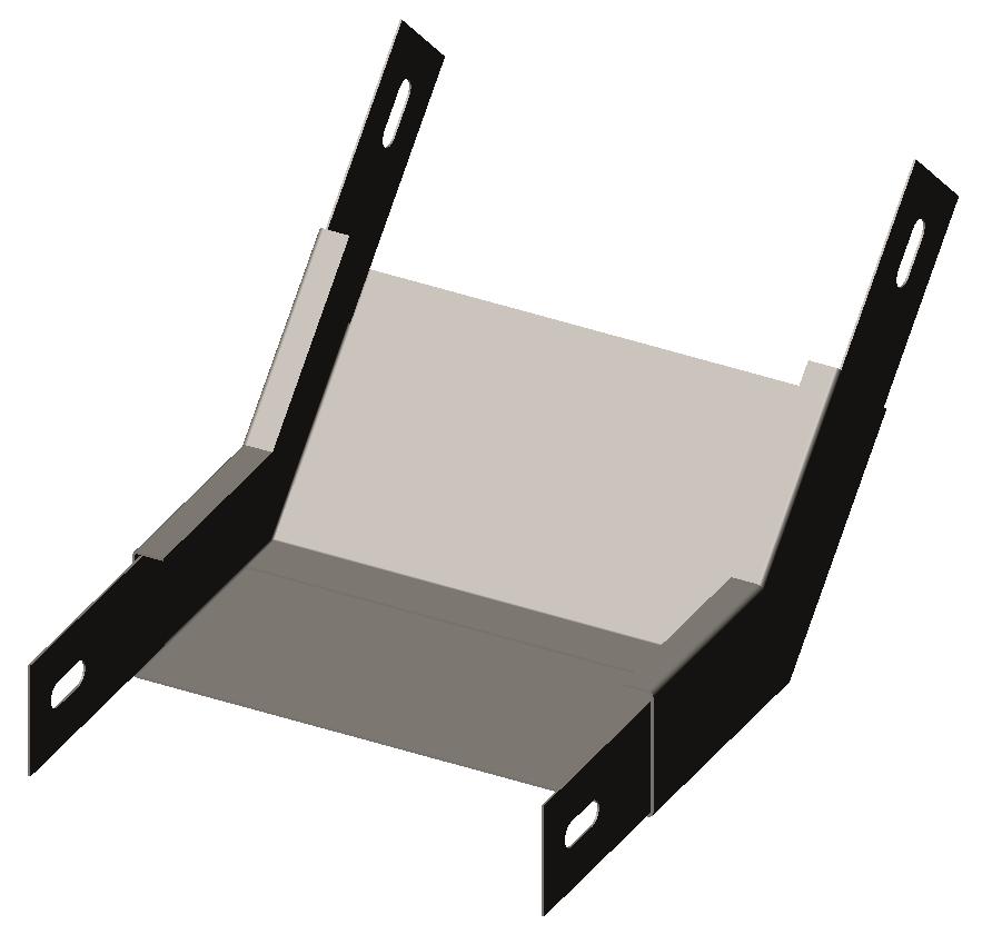 Угол внутренний (подъем угловой, секция подъёмная) 45° без крышки