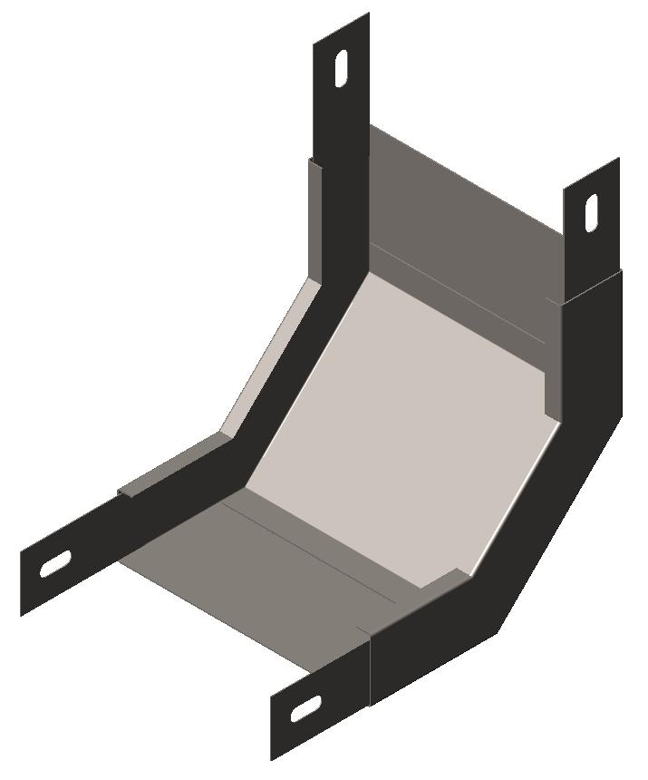 Угол внутренний (подъем угловой, секция подъёмная) 90° без крышки (серия ЛМ/ЛПМ)