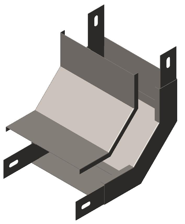 Угол внутренний (подъем угловой, секция подъёмная) 90° с крышкой