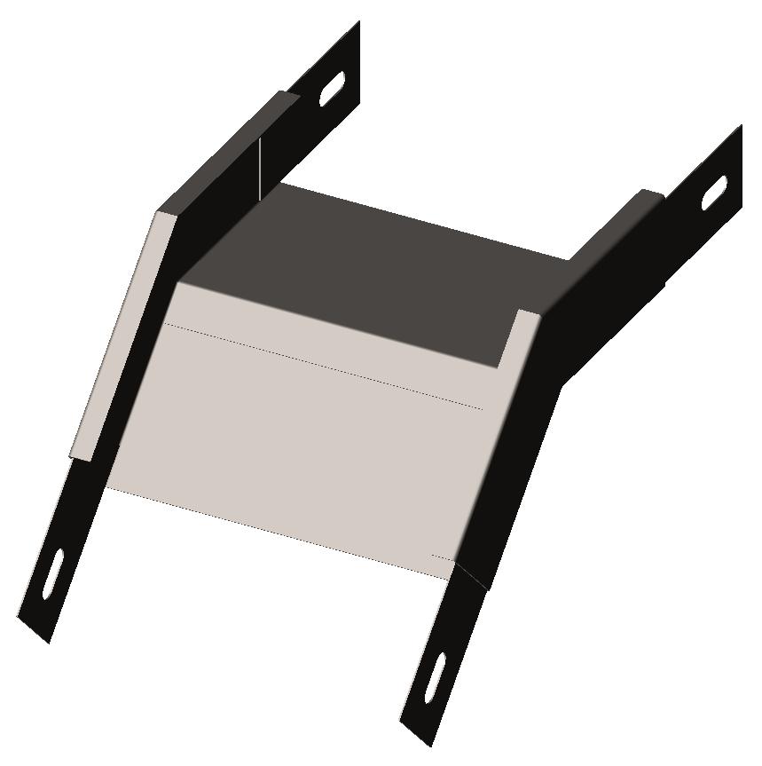 Угол внешний (секция спусковая) 45° без крышки
