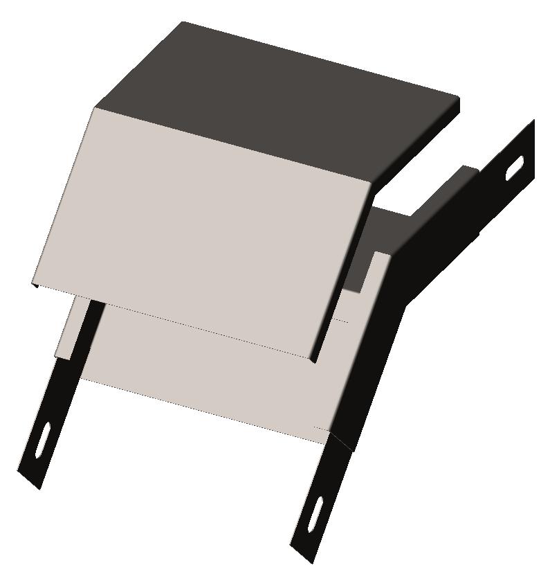 Угол внешний (секция спусковая) 45° с крышкой (серия ЛМ/ЛПМ)