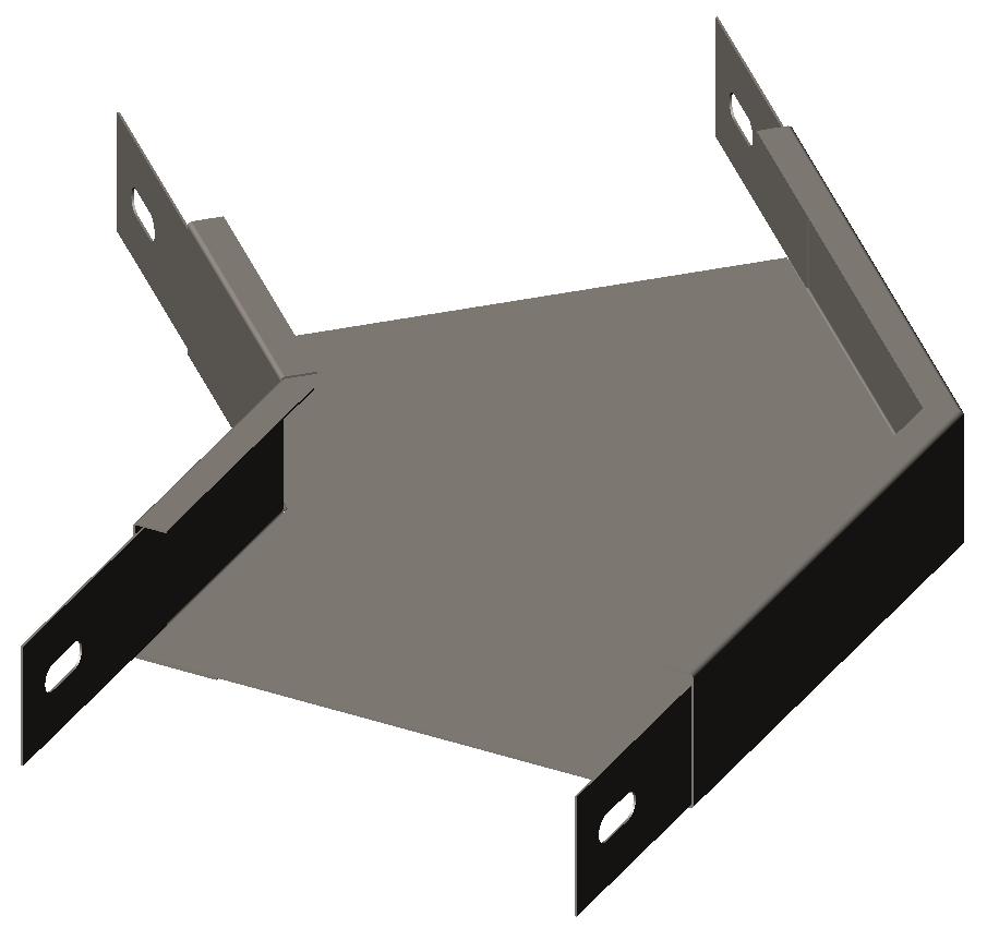 Секция угловая (полуотвод) 45° без крышки