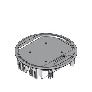 Напольный лючок круглый, двойной, с выходом для кабеля