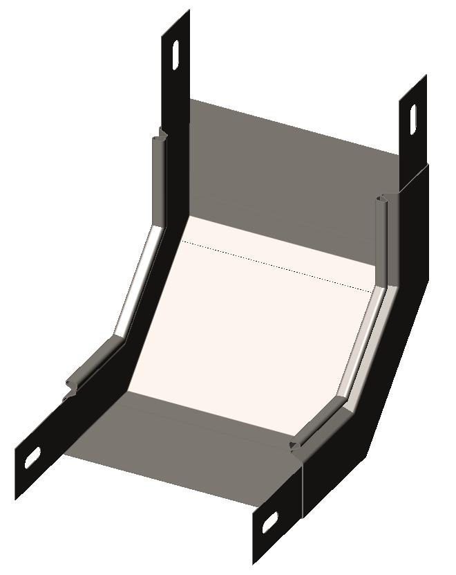Подъем угловой ( угол внутренний,, секция подъёмная) 90° без крышки