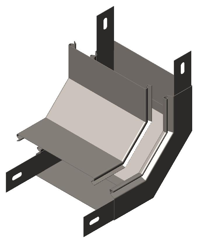 Подъем угловой ( угол внутренний,, секция подъёмная)  90° с крышкой