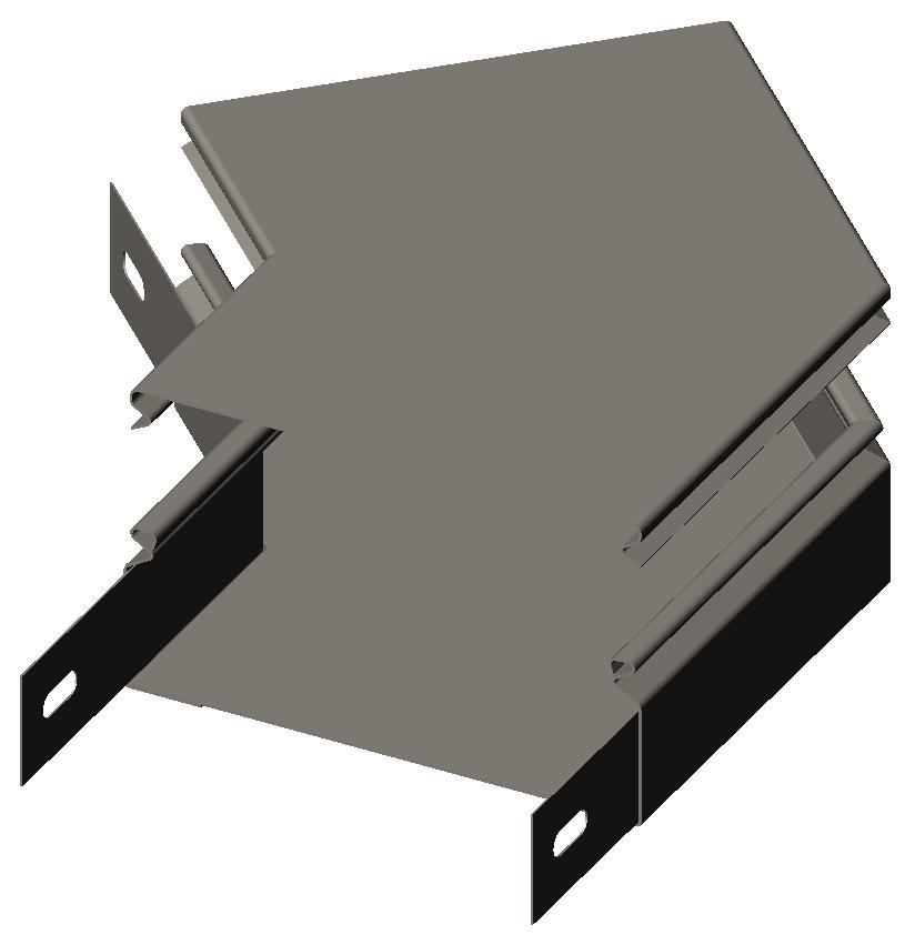 Секция угловая замковая (полуотвод) 45° с крышкой RLS