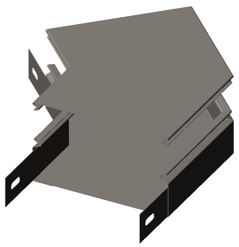 Секция угловая замковая 45° с крышкой серия Gyroux