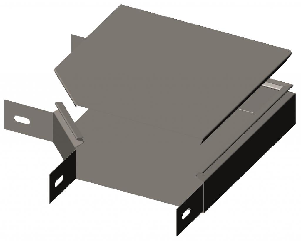 Секция угловая замковая 90° с крышкой серия Gyroux