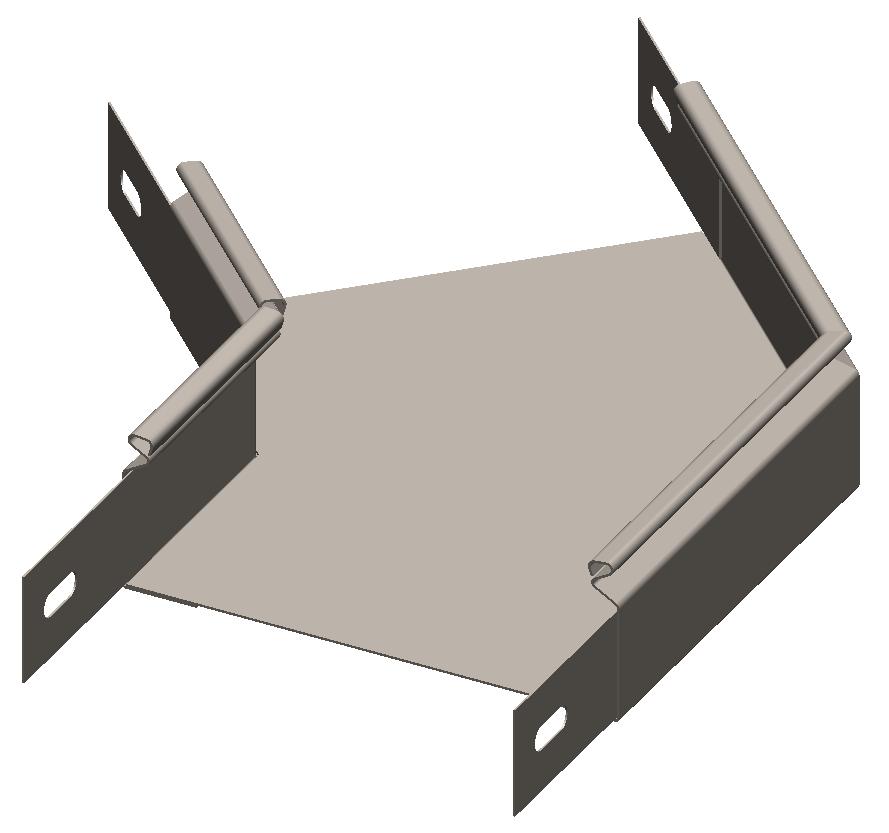Cекция угловая замковая 45° без крышки RLS OLSERO LSR/LSRP