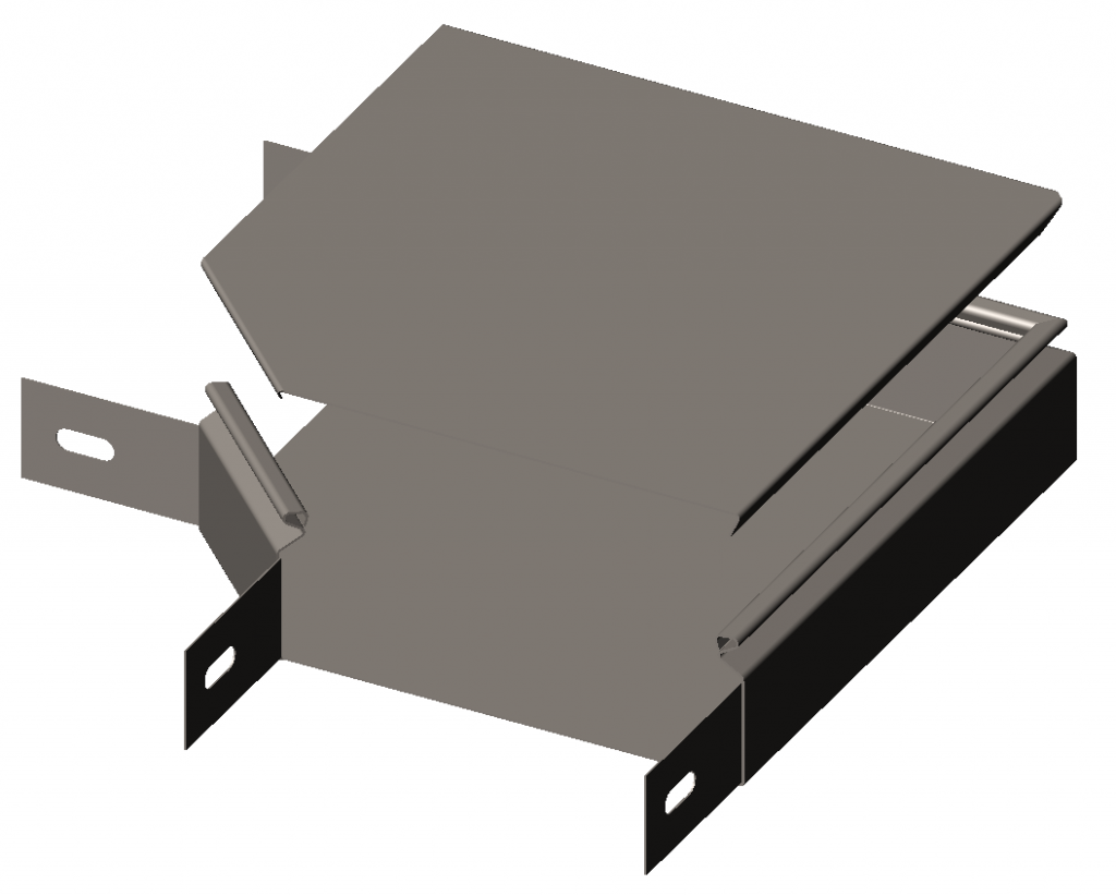 Секция угловая замковая 90° с крышкой RLS
