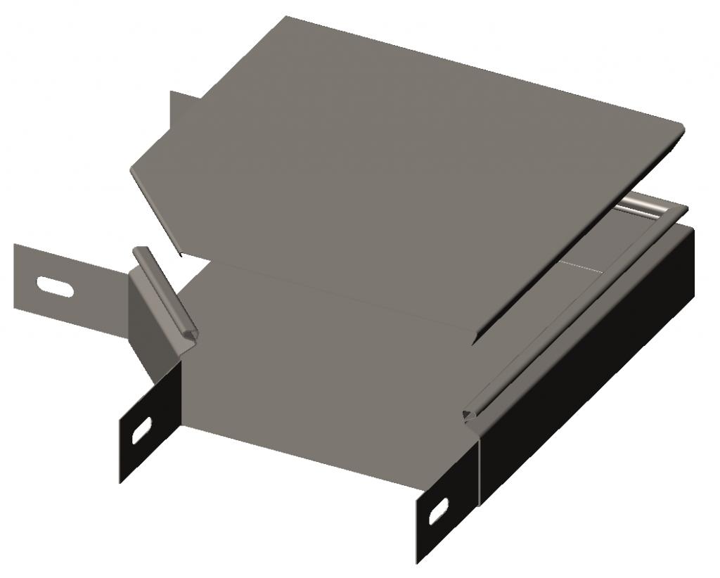 Секция угловая замковая 90°(отвод) с крышкой RLS