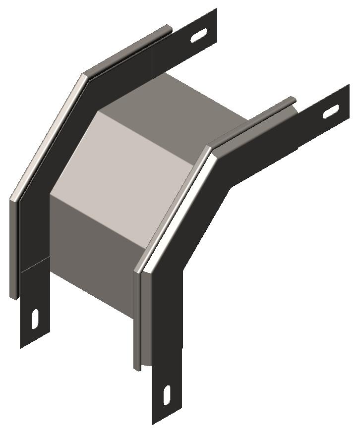 Спуск угловой ( секция спусковая, угол внешний)  90° без крышки