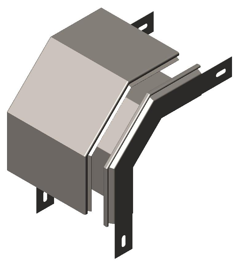 Спуск угловой ( секция спусковая, угол внешний)  90° с крышкой