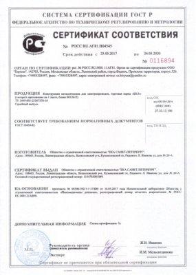 Сертификат соответствия по метрологии