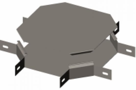 Х-секция 90° с крышкой Gyroux