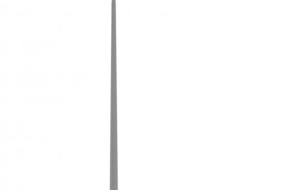Опора металлическая консольная коническая