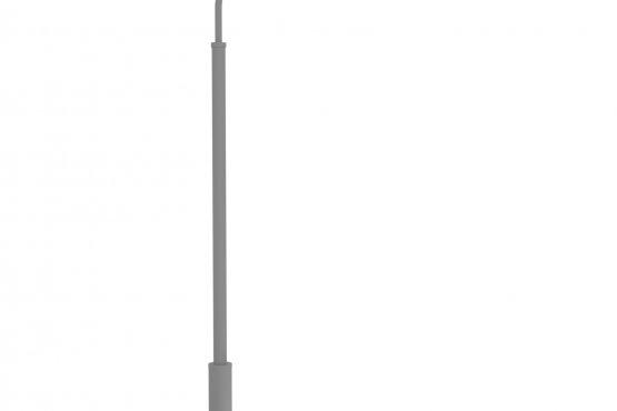 Опора металлическая консольная трубчатая