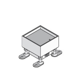 Лючок простой, одинарный, четырёхугольный, глухой, нивелируемый