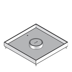 Кассетный лючок, четырёхугольный, с тубусом для кабеля, тройной