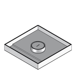 Кассетный лючок для тяжелых нагрузок, с тубусом для кабеля, четырёхугольный, тройной.