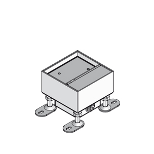 Лючок простой, одинарный, четырёхугольный, с выводом для кабеля, нивелируемый