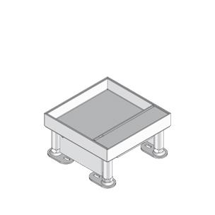 Лючок простой, четырёхугольный, с выводом для кабеля, нивелируемый