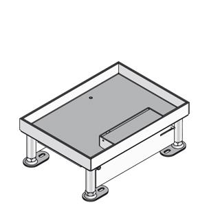 Кассетный лючок, четырёхугольный, с выводом для кабеля, двойной, нивелируемый