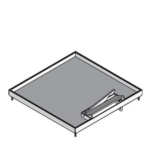 Кассетный лючок, четырёхугольный, с выводом для кабеля, тройной