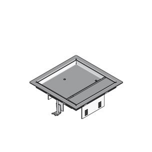 ЛНапольный лючок четырёхугольный, с выходом для кабеля