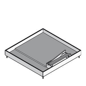 Кассетный лючок для тяжелых нагрузок, с выводом для кабеля, четырёхугольный, тройной
