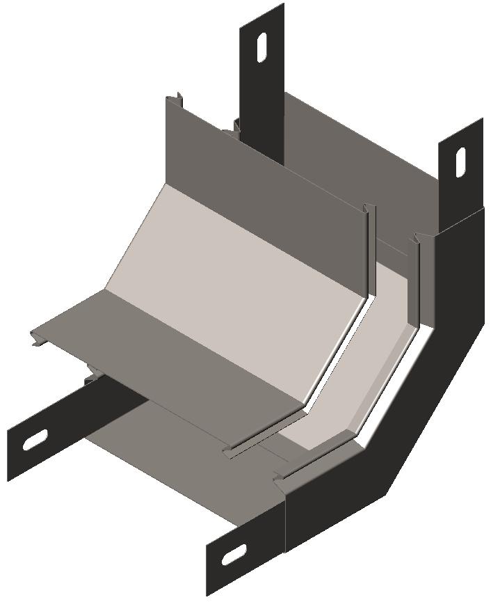 Подъем угловой 90° с крышкой серия Gyroux