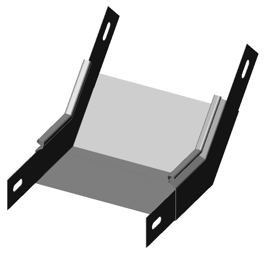 Полуподъем угловой 45° без крышки
