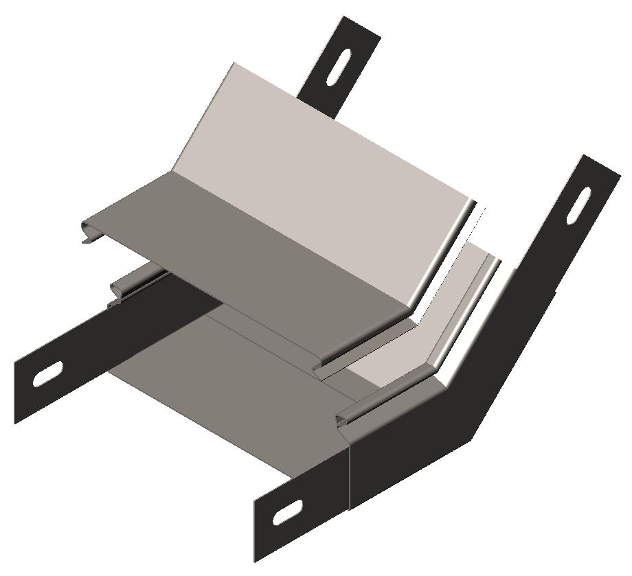 Полуподъем угловой 45° с крышкой ULST OLSERO LSR/LSRP